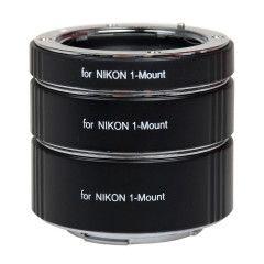 Caruba Tussenringen set voor Nikon 1 Chroom