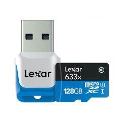Lexar MicroSDXC High-Performance 128GB UHS-I 633x + USB 3.0 kaartlezer