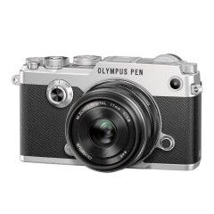 Olympus PEN-F Zilver + 17mm