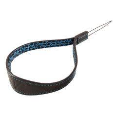 4V Design Watch Medium Wrist Strap Tuscany Leer - Black/Cyan