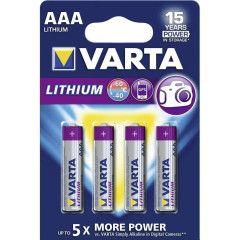 Varta AAA Profes Lithium 4 pak nr.6103