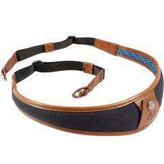 4V Design ALA Neck Strap Metal Ring - Black/Brown