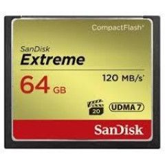 Sandisk CF 64GB Extreme 120MB/s 85MB write UDMA 7