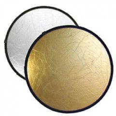 Delamax 2 in 1 reflectiescherm rond 80cm goud/zilver