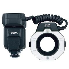 Sigma EM140 DG MacroFlash Canon ETTL incl. 55/58mm adapterring - Losse flitser