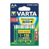 Varta Ready2 Use Oplaadbare AA-Batterijen 2100mAh 4 Stuks