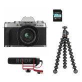 Fujifilm X-T200 Silver + XC15-45mm  Vlogger Kit