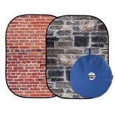 Lastolite Urban Collapsible 150x210cm  - Red Brick/Stone