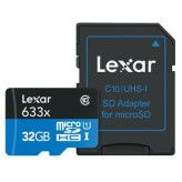 Lexar MicroSDHC High-Performance 32GB UHS-I 633x + SD Adapter