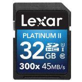 Lexar SDHC Premium 32GB 300x 45MB/s Class 10