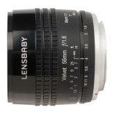 Lensbaby Velvet 56 Pentax - Zwart