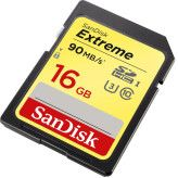 Sandisk SDHC Extreme 16GB 90MB/s Class 10