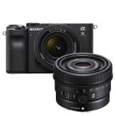 Sony A7C Zwart + 28-60mm + 40mm