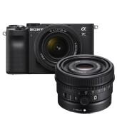 Sony A7C Zwart + 28-60mm + 50mm