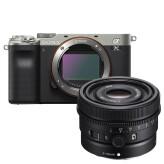 Sony A7C Zilver + 50mm