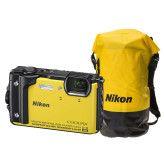 Nikon Coolpix W300 geel + WP tas