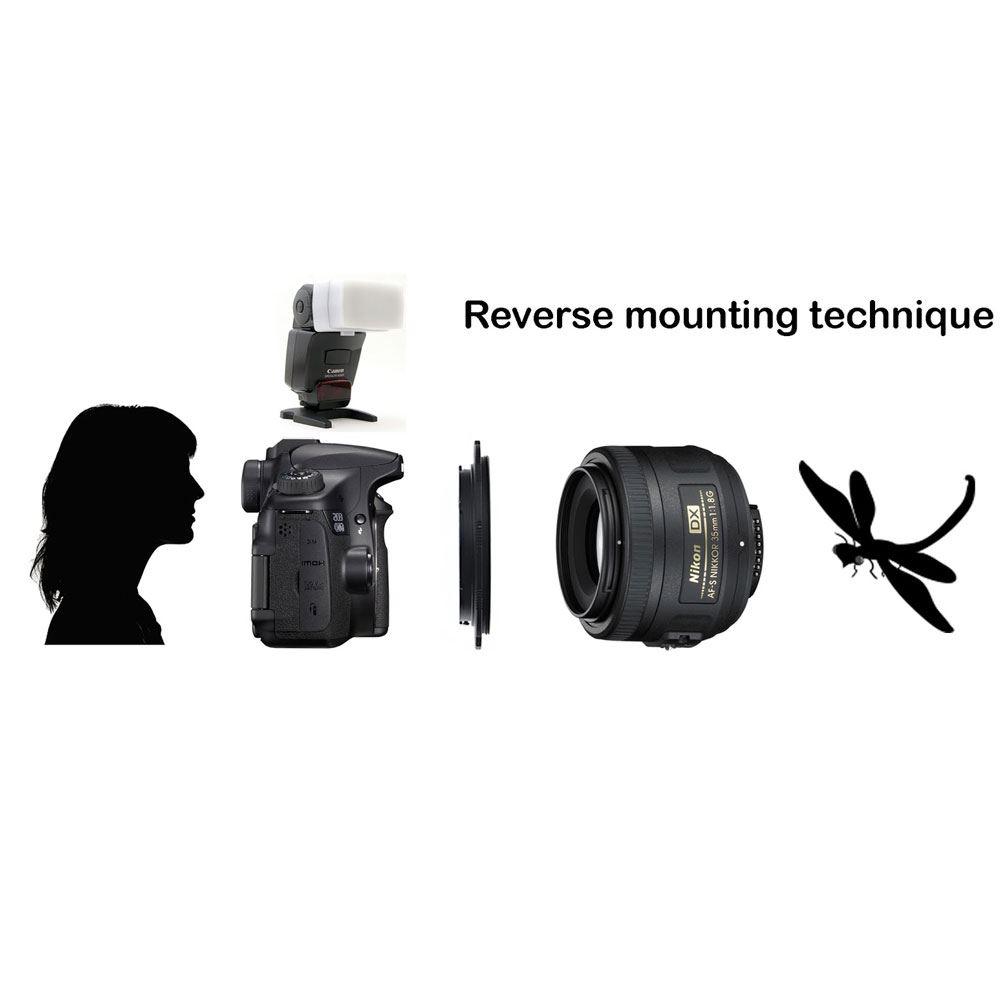 Caruba Omkeerring Canon EOS - 58mm