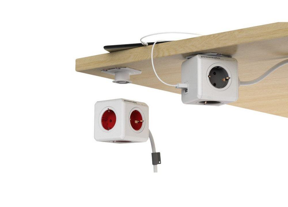PowerCube Extended stekkerblok rood 5 stopcontacten