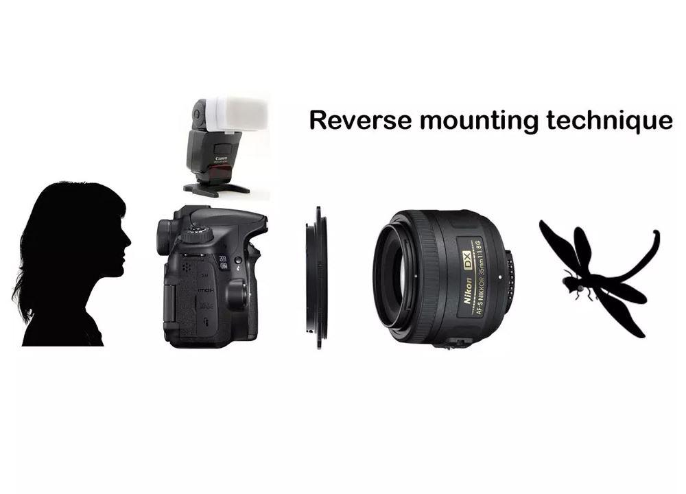 Caruba Omkeerring Sony E-mount - 62mm