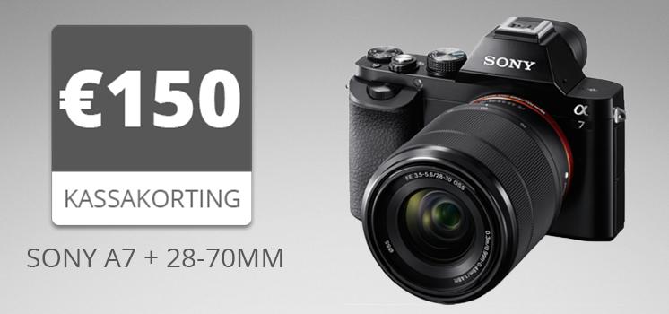 Ontvang nu €150,- kassakorting op de Sony A7 + 28-70mm