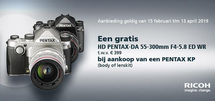 GRATIS 55-300mm bij aankoop van een Pentax KP