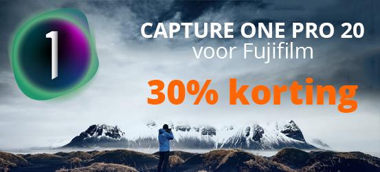 30% korting op Capture One Pro 20 voor Fujifilm