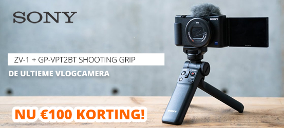 €100 korting op een Sony Vlogging Grip
