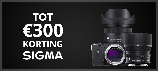 Tot €300 korting op geselecteerde Sigma producten!