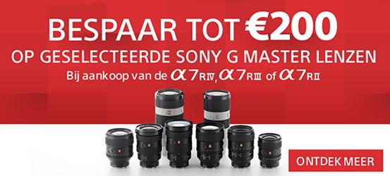 €200 korting op Sony G Master lenzen
