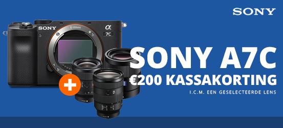 €200 korting op een Sony A7C in combinatie met een objectief