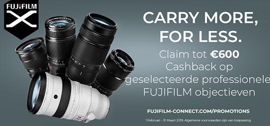 Fujifilm XF objectieven Cashback