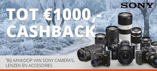 Sony Winter Promotie - Tot €1000 cashback!