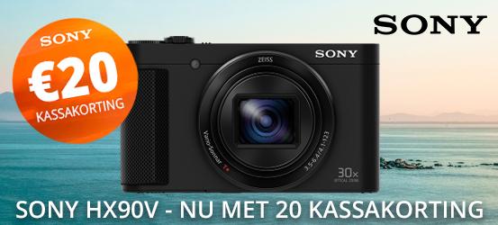 Sony HX90V nu met €20 kassakorting