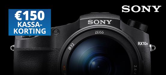 €150,- kassakorting op de Sony RX10 IV