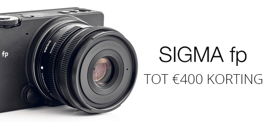 Ontvang tot €400 korting op een Sigma fp