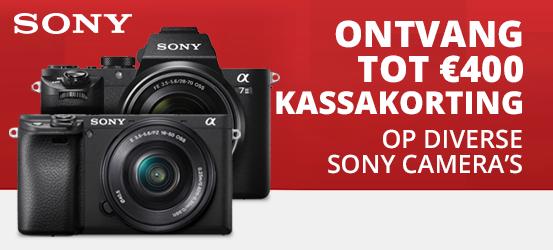 Tot €400 kassakorting op verschillende Sony camera's!