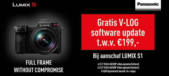 Gratis V-LOG software bij aankoop Lumix S1