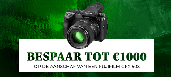 Tot €1000 korting op een Fujifilm GFX-50S