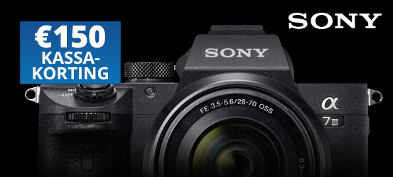 €150,- kassakorting op de Sony A7 III + 28-70mm