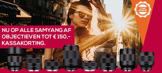 Samyang Lens promotie