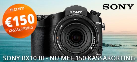 Sony RX10 Mark III nu met €150 kassakorting