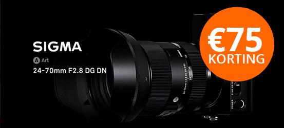 Sigma 24-70mm - Nu met €75 korting