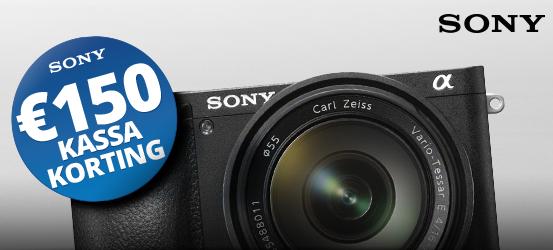 €150 korting op de Sony A6500 + 16-70mm