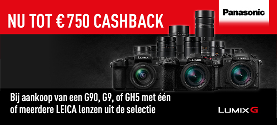 Tot €750 cashback op Panasonic camera's!