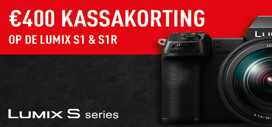€400 kassakorting op een Panasonic S1 of S1R
