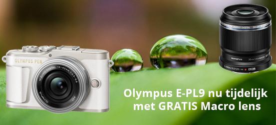 Gratis 30mm Macro bij een Olympus E-PL9
