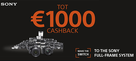 SWITCH to the Sony Full-Frame System CASHBACK actie