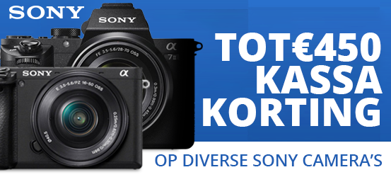 Tot €450 kassakorting op Sony camera's!