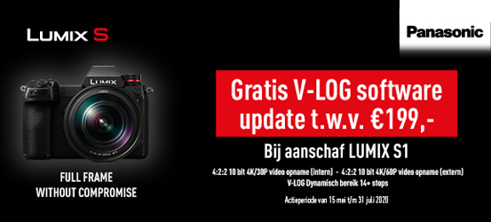 Gratis V-LOG software update t.w.v. €199