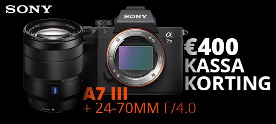 €400 korting op de Sony A7 III + 24-70mm ZA